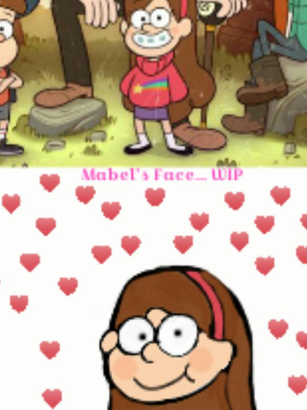 Drawing Mabel on Sketch App by Jessica-Animal-Lover