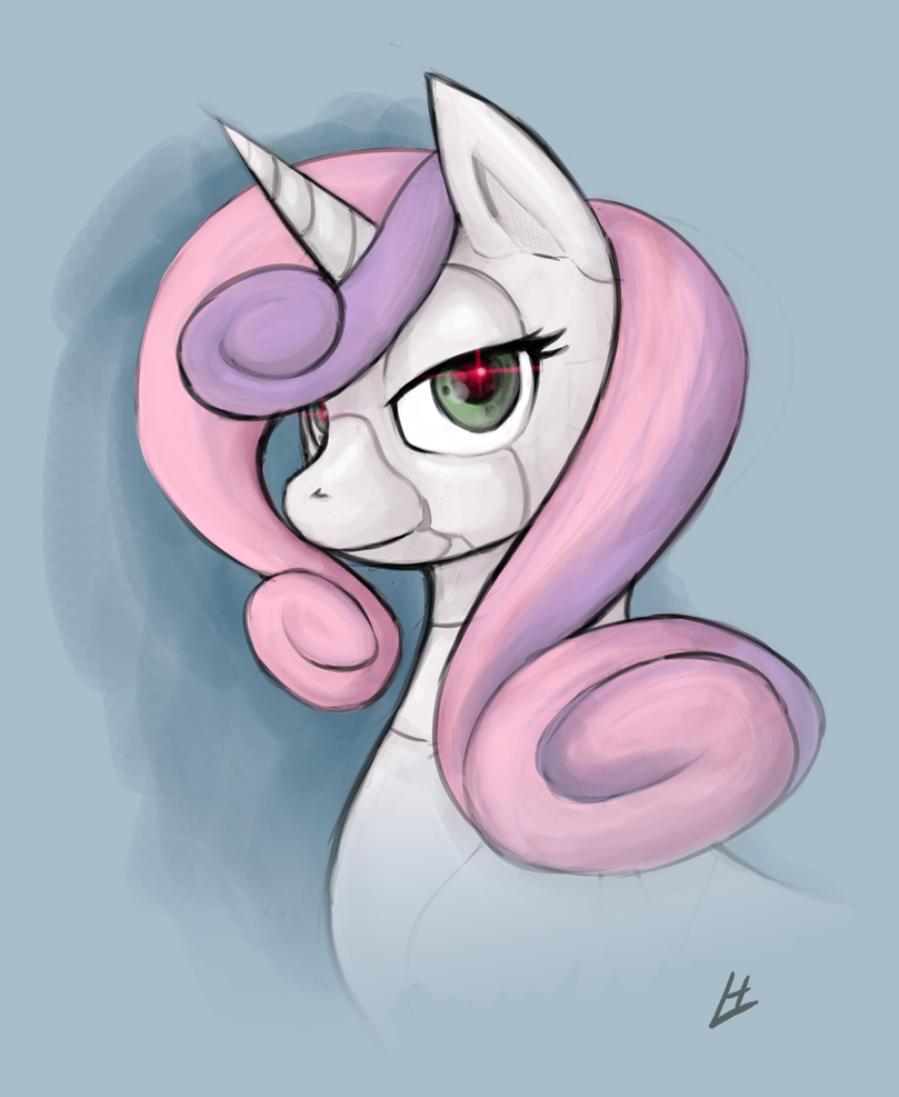Sweetie Bot Portrait by theinkBot