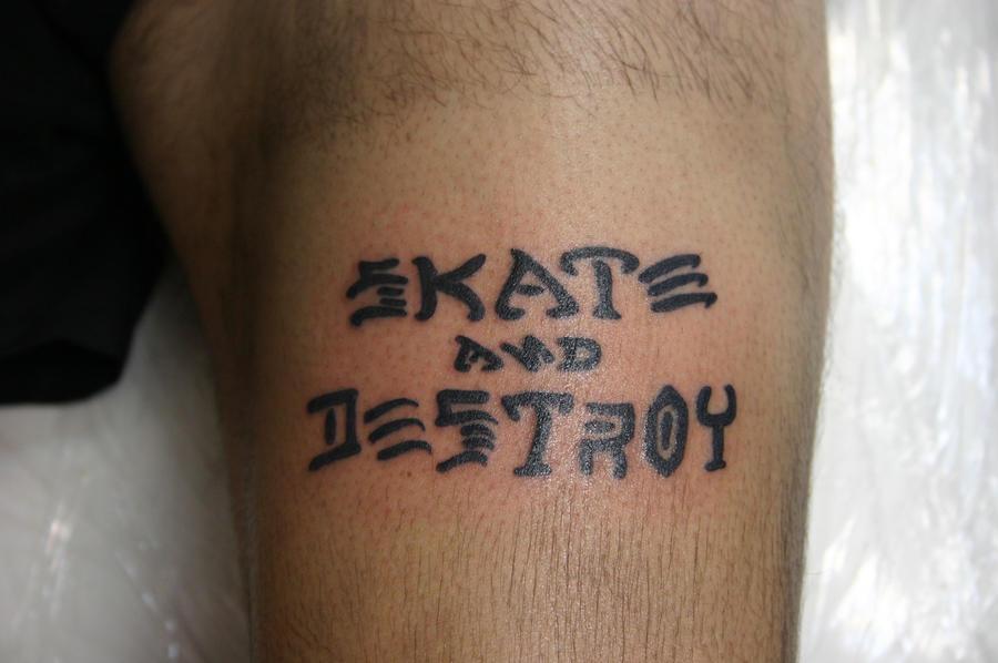 Destroyer Tattoo Skate And Destroy Tattoo