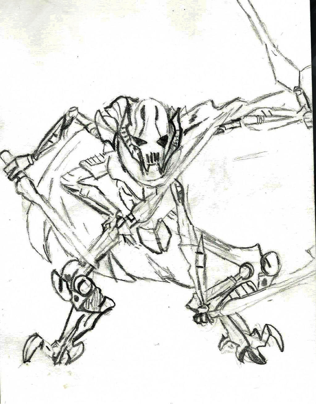 general grievous coloring sheet pages - photo#13