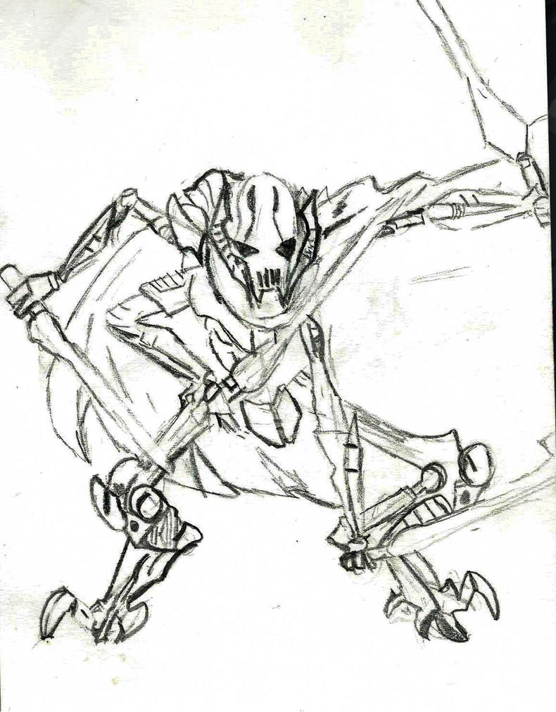 General Grievous By Kuollutkorppi On Deviantart General Grievous Coloring Page