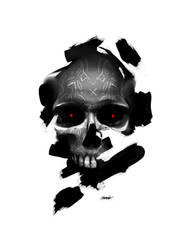Black Angel Skull by mzkmzk