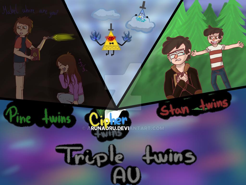 Triple Twins AU by aruNaoru