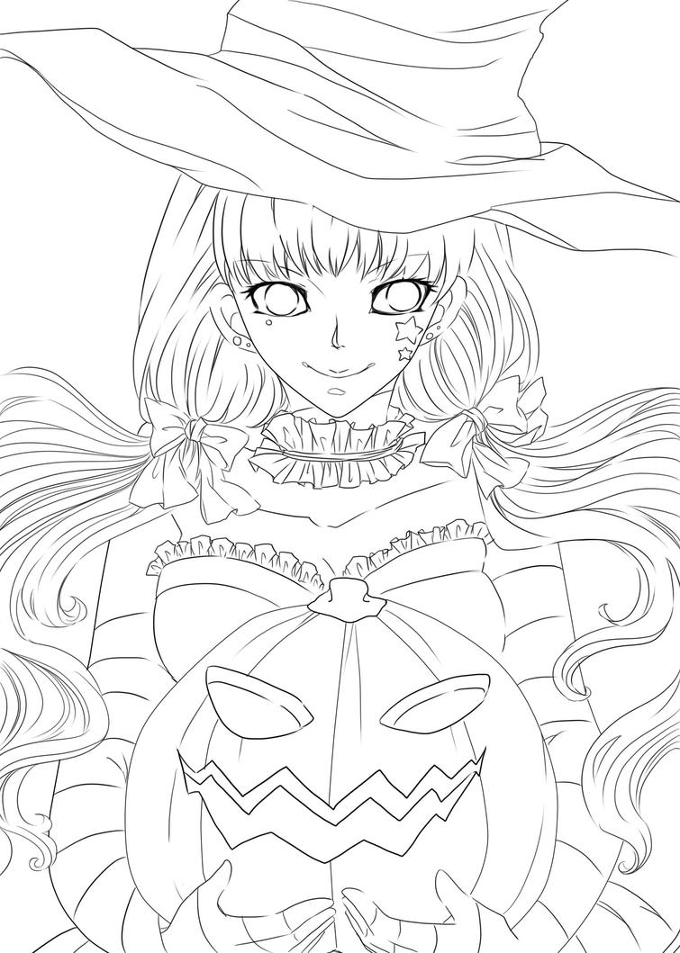 Line Art Halloween : Halloween lineart by mokohachi on deviantart