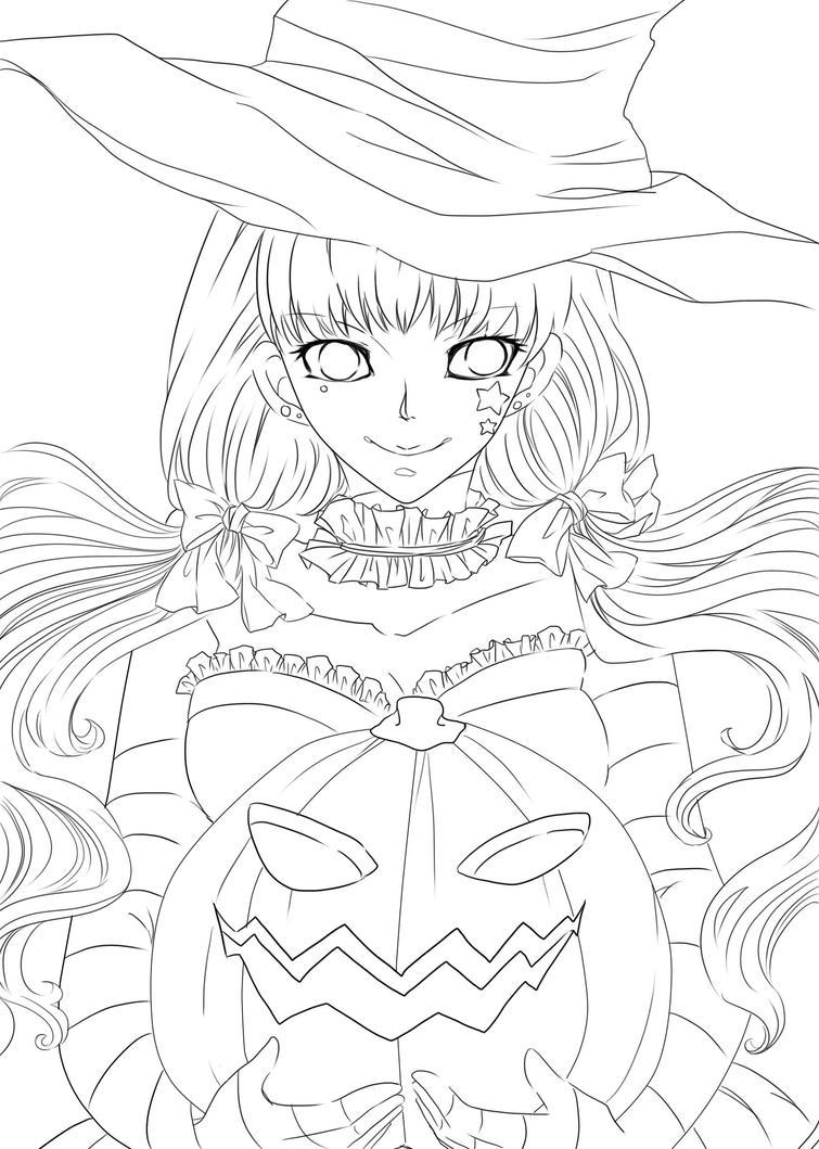 Line Art Halloween : Halloween lineart by mokohachi on deviantart