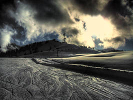 Skipiste near Lofer, Austria by Bartelll