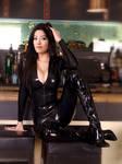 Susan Ma latex catsuit fake