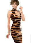 Keira Knightley latex fake 046 v12 tiger print