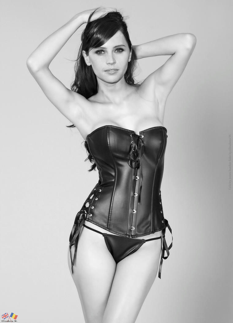 Felicity Jones leather fake 02 v02 by ElisabetaM on DeviantArt
