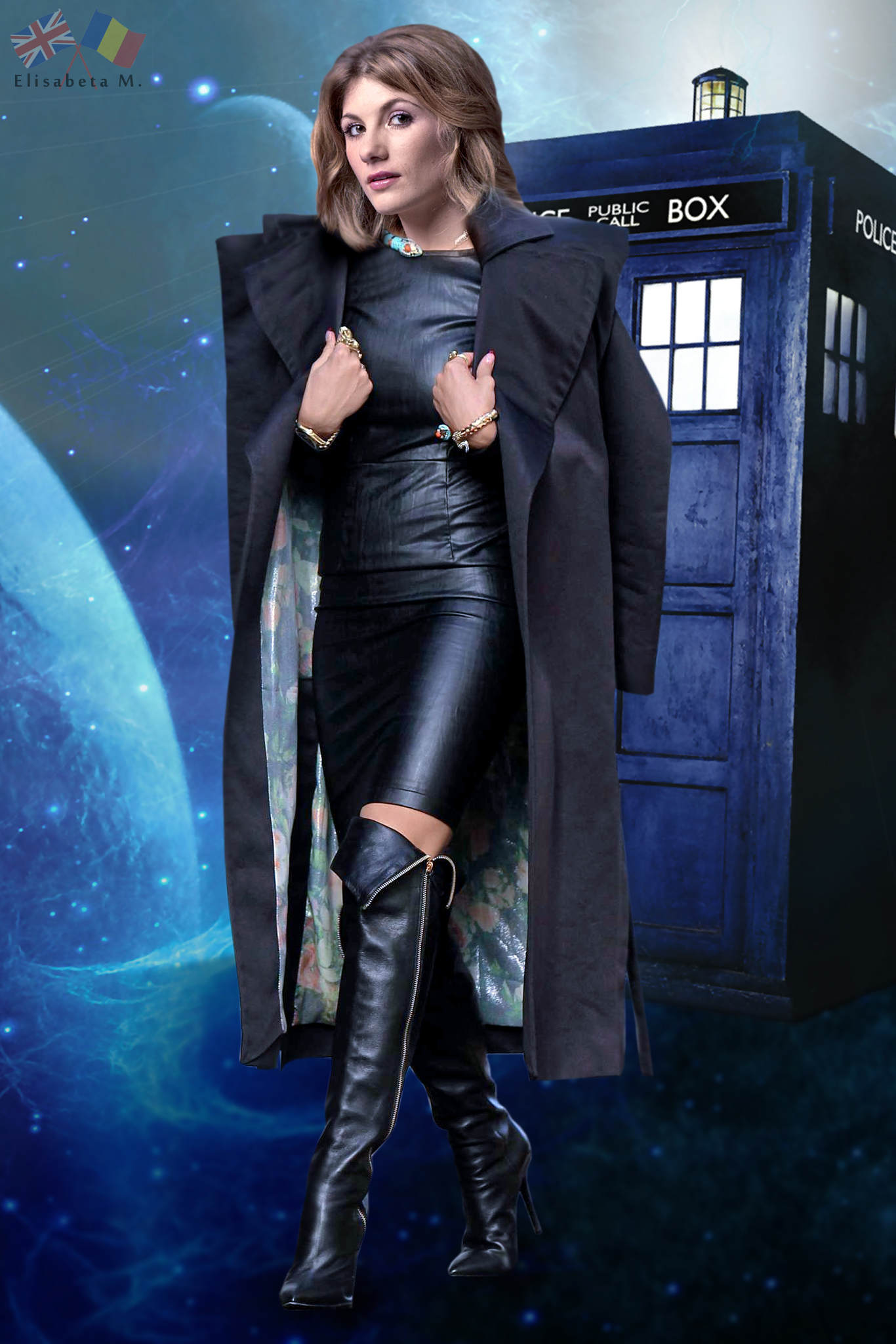 Jodie Whittaker Doctor Who Leather Fake 01 V02 By Elisabetam On