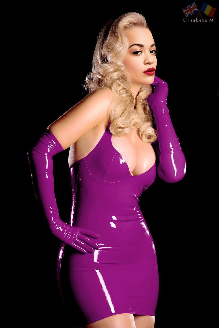 Rita Ora latex fake 01 v10 purple A by ElisabetaM