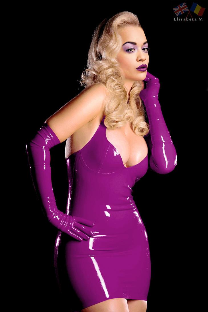 Rita Ora latex fake 01 v11 purple B by ElisabetaM