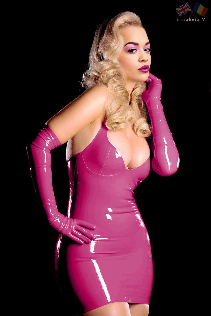 Rita Ora latex fake 01 v13 pink B by ElisabetaM