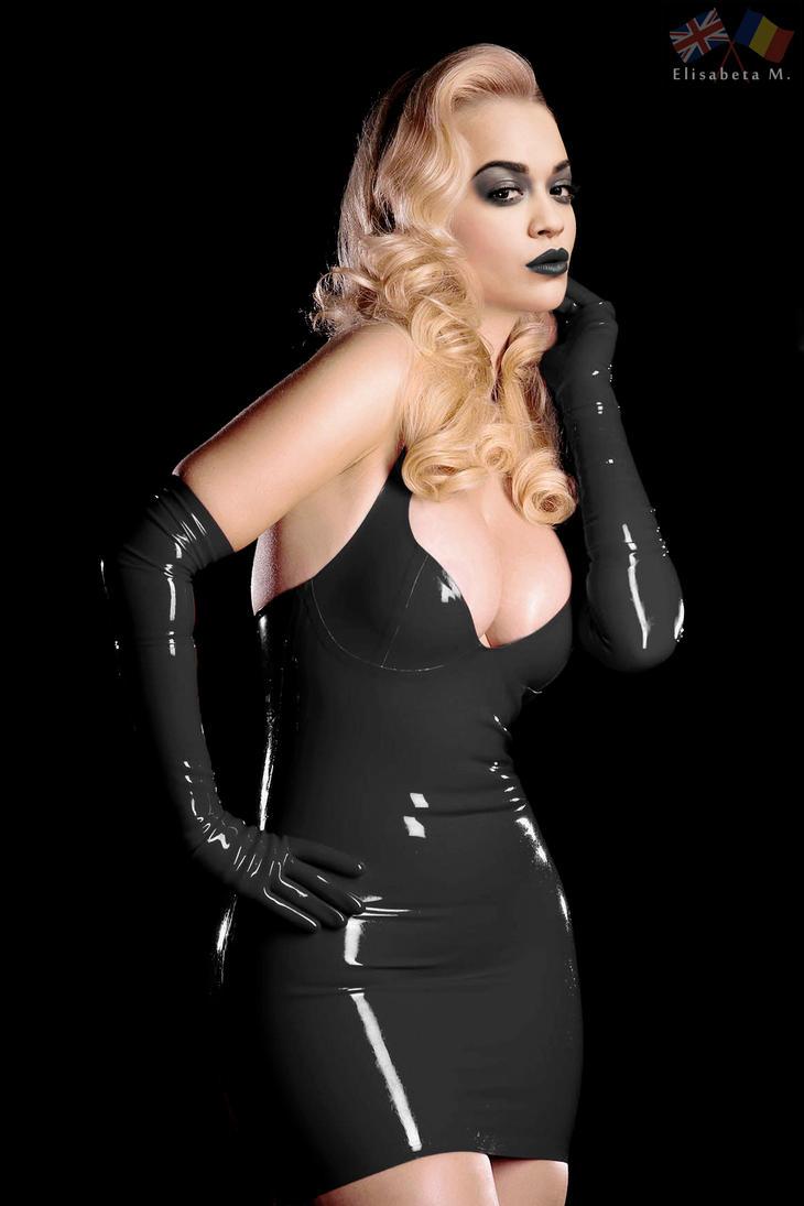 Rita Ora latex fake 01 v19 black D by ElisabetaM