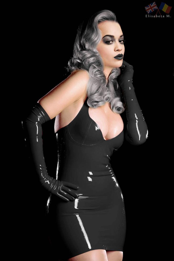 Rita Ora latex fake 01 v20 goth A by ElisabetaM