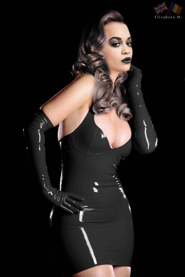 Rita Ora latex fake 01 v21 goth B by ElisabetaM