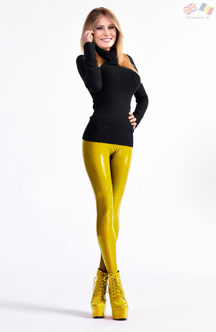 Melania Trump latex fake 01 v19 gold by ElisabetaM