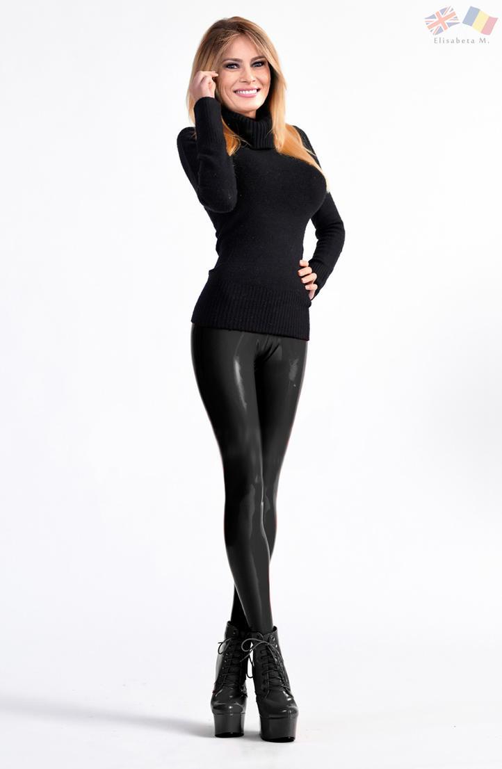 Melania Trump latex fake 01 v22 black by ElisabetaM