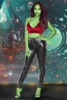 Zoe Saldana leather fake 08 v03 Gamora by ElisabetaM