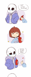 Comic #4 : Don't mess with Sans' ketchup by shallowdeepcreation