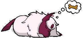 Sleeping Shiny Absol by chubby-choco