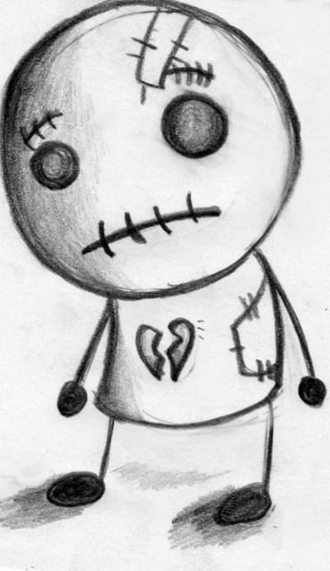 Creepy Rag Doll... Rag Doll Drawing