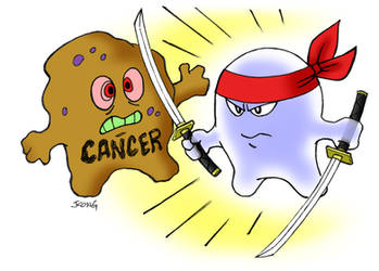 Killing Cancer Cells by JerryKongArt