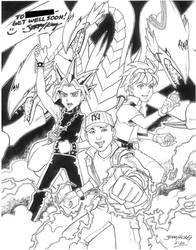 Anime Card Player THROWDOWN by JerryKongArt