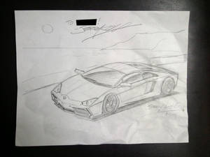 Aventador Sketch