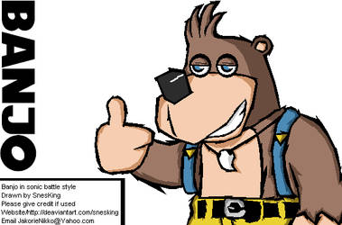 Banjo the Bear by SnesKing by RareWitchProject
