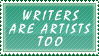 Writers Are Artists Stamp by XGBlue