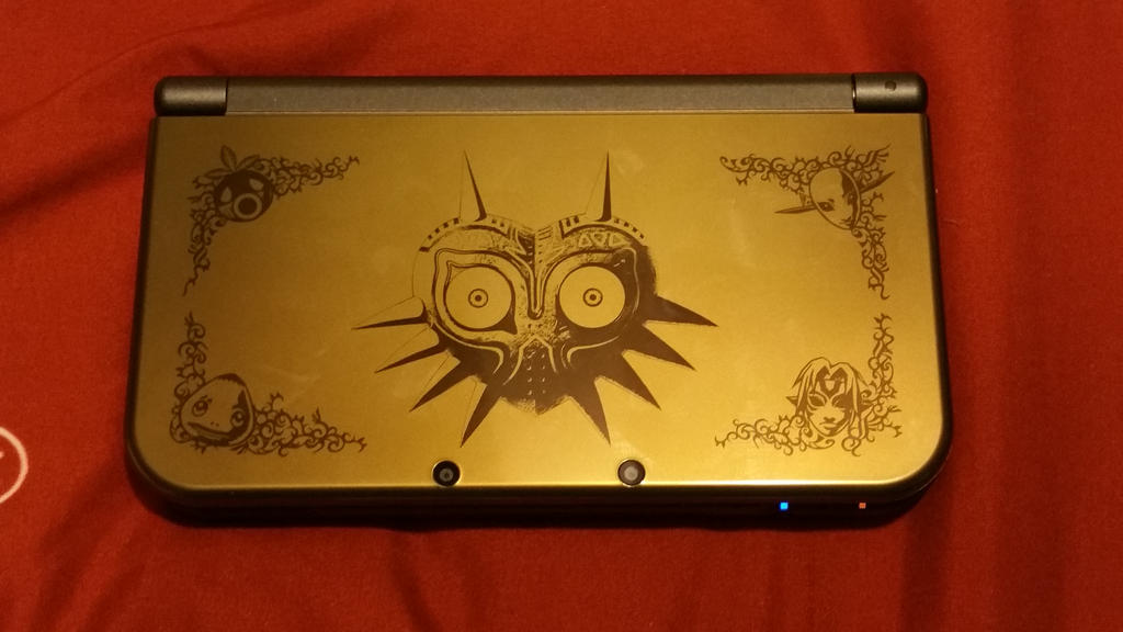 new 3ds xl majora s mask edition by xgblue on deviantart