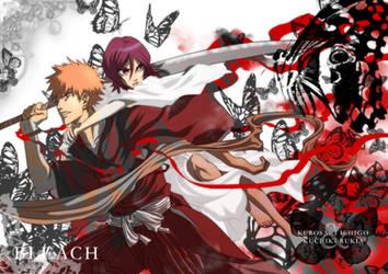 bleach: Ichigo Rukia postcard by cwutieangel