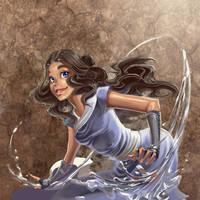 avatar calendar: katara by cwutieangel