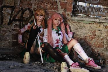 cosplay High school of dead by Emiletta