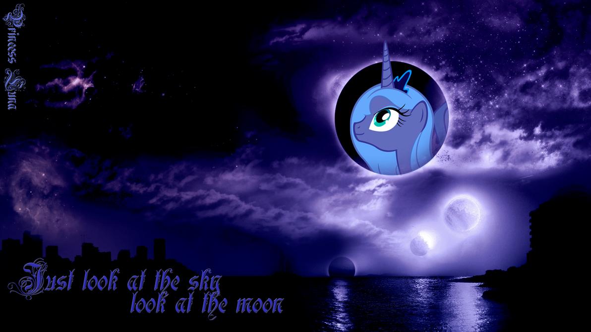Princess Luna Wallpaper by BlueDragonHans