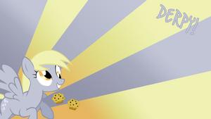 Derpy Hooves Loves Muffins Wallpaper by BlueDragonHans