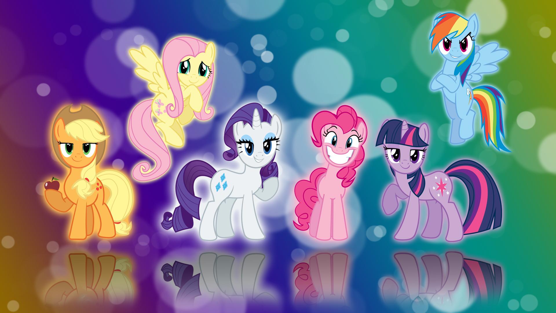 My Little Pony FIM Six Mane Wallpaper