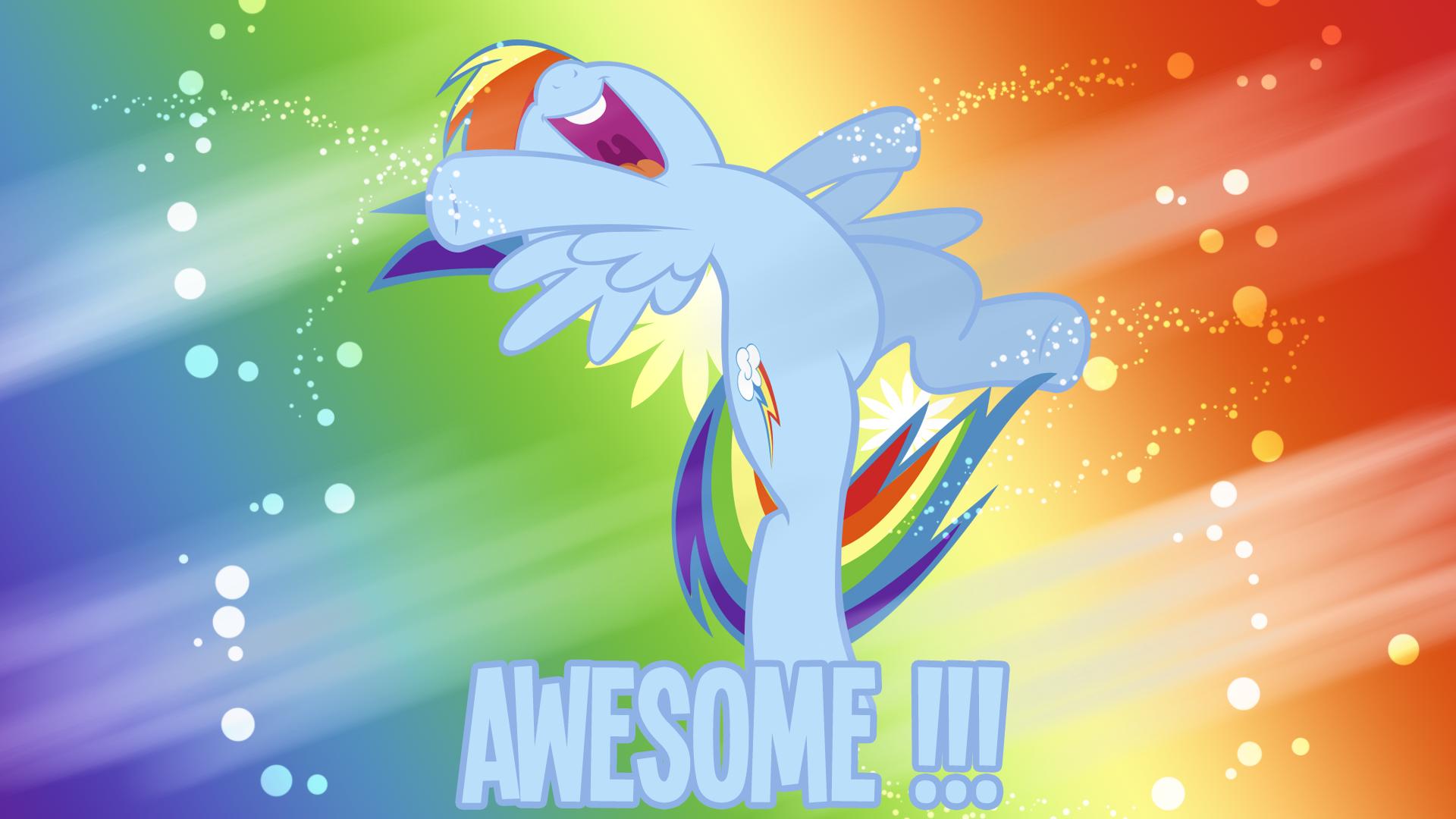 Awesome Rainbow Dash Wallpaper