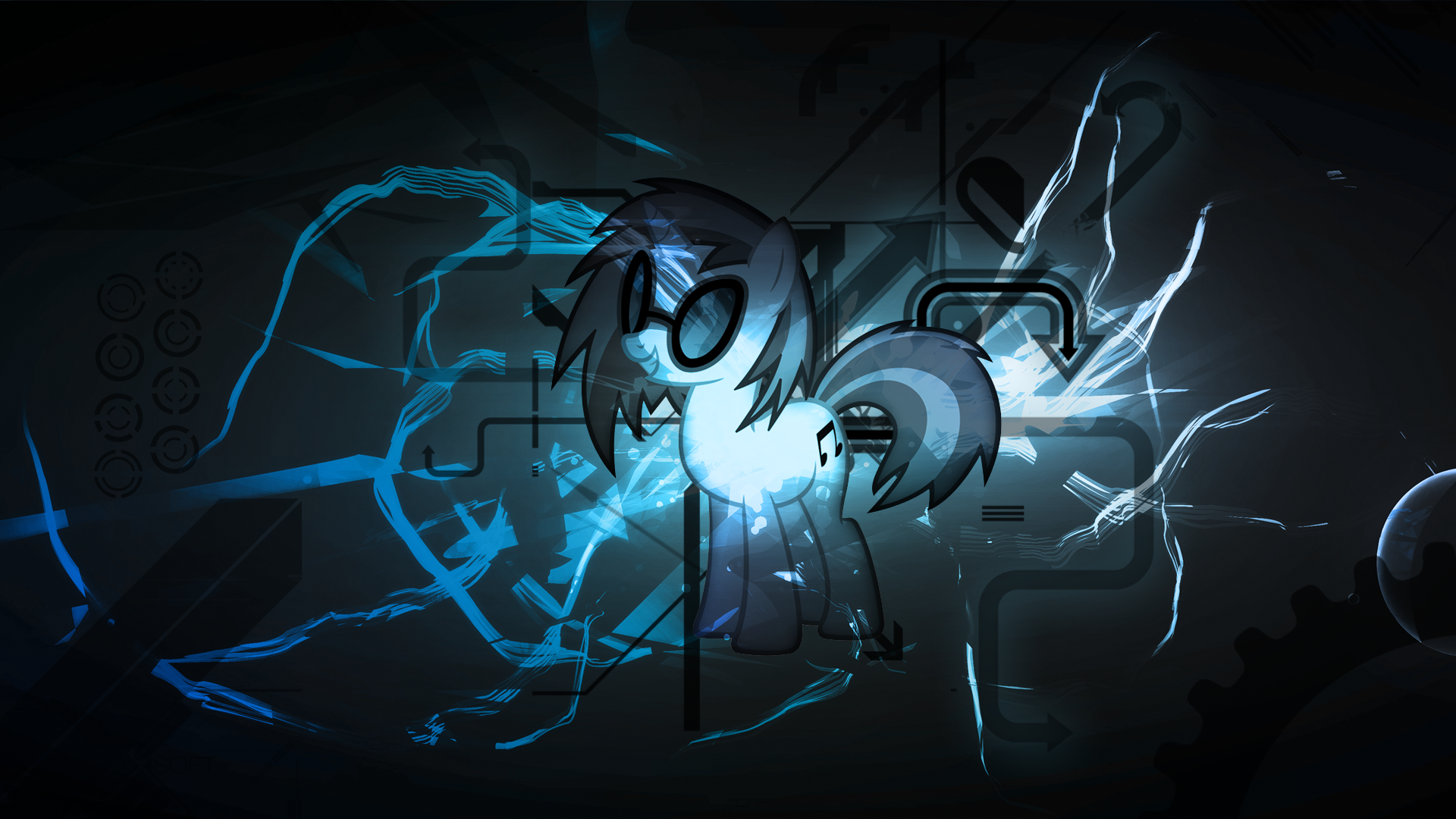 Vinyl Scratch DJ-P0N3 Super Style Wallpaper by BlueDragonHans