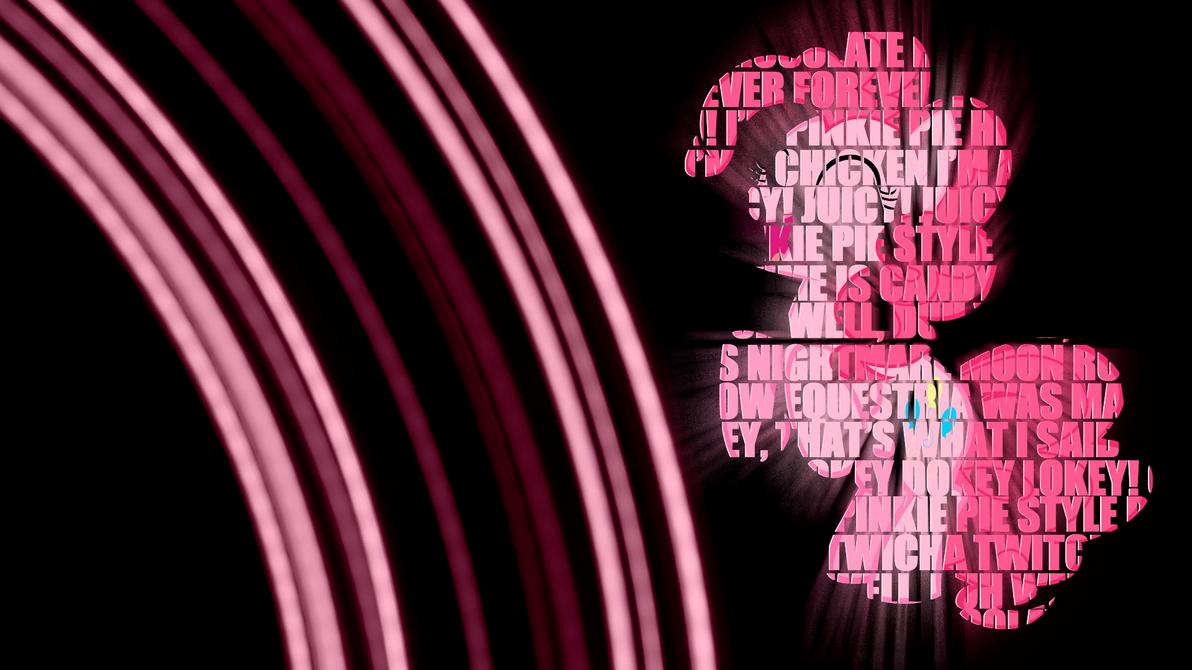 Pinkie Pie Text Wallpaper by BlueDragonHans