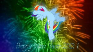 Rainbow Dash Happy New Year 2012