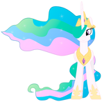 Princess Celestia Happy Front Vector