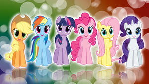 My Little Pony FIM Mane 6 'Colors!' Wallpaper