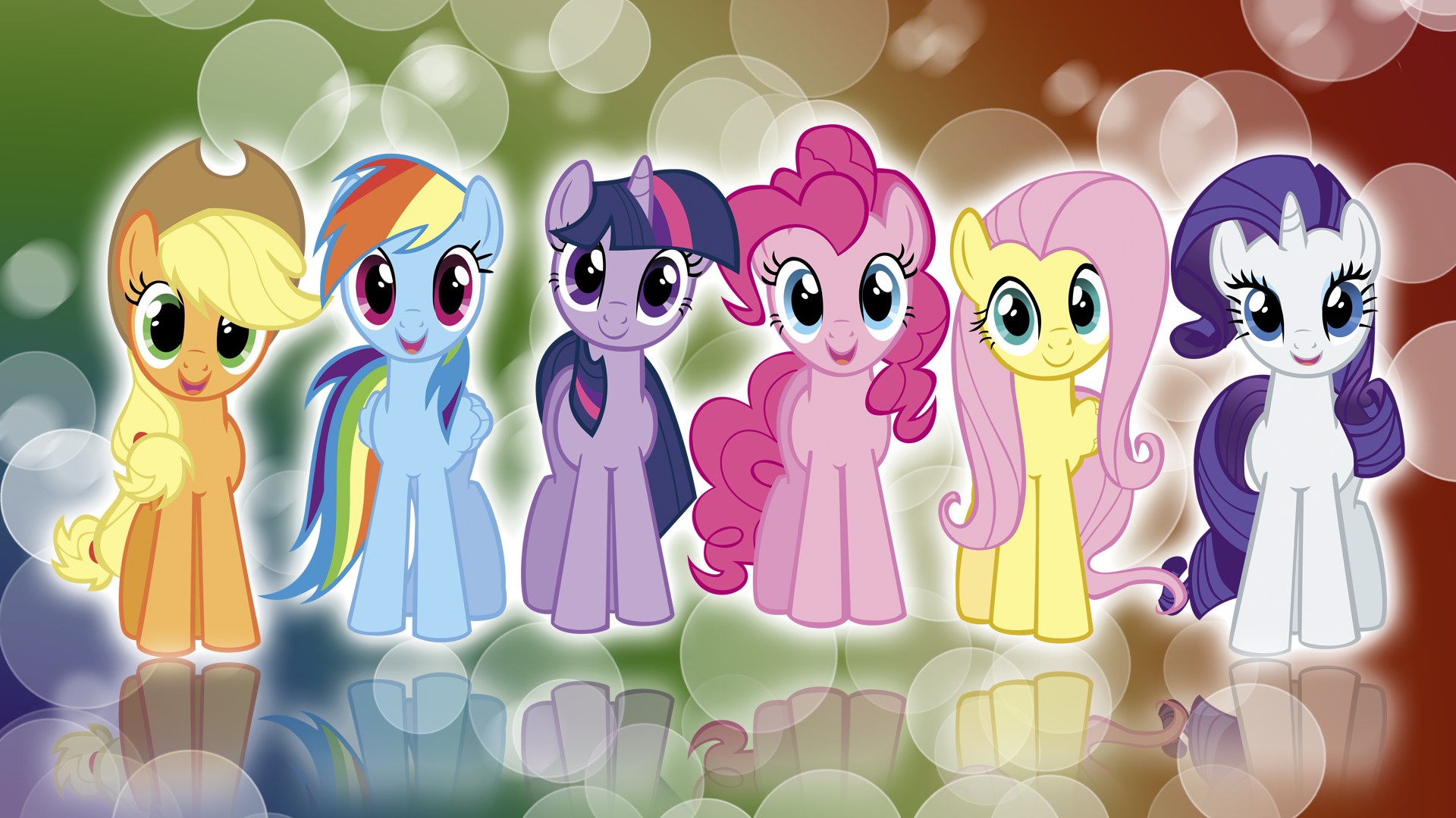 My Little Pony FIM Mane 6 'Colors!' Wallpaper by BlueDragonHans