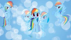 Rainbow Dash 'Bubbles!' Wallpaper