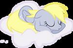 Derpy sleeping on a cloud ...
