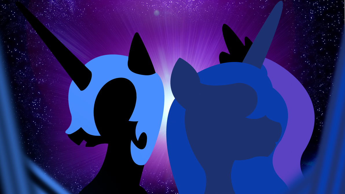 Nightmare Moon and Princess Luna Wallpaper by BlueDragonHans ...