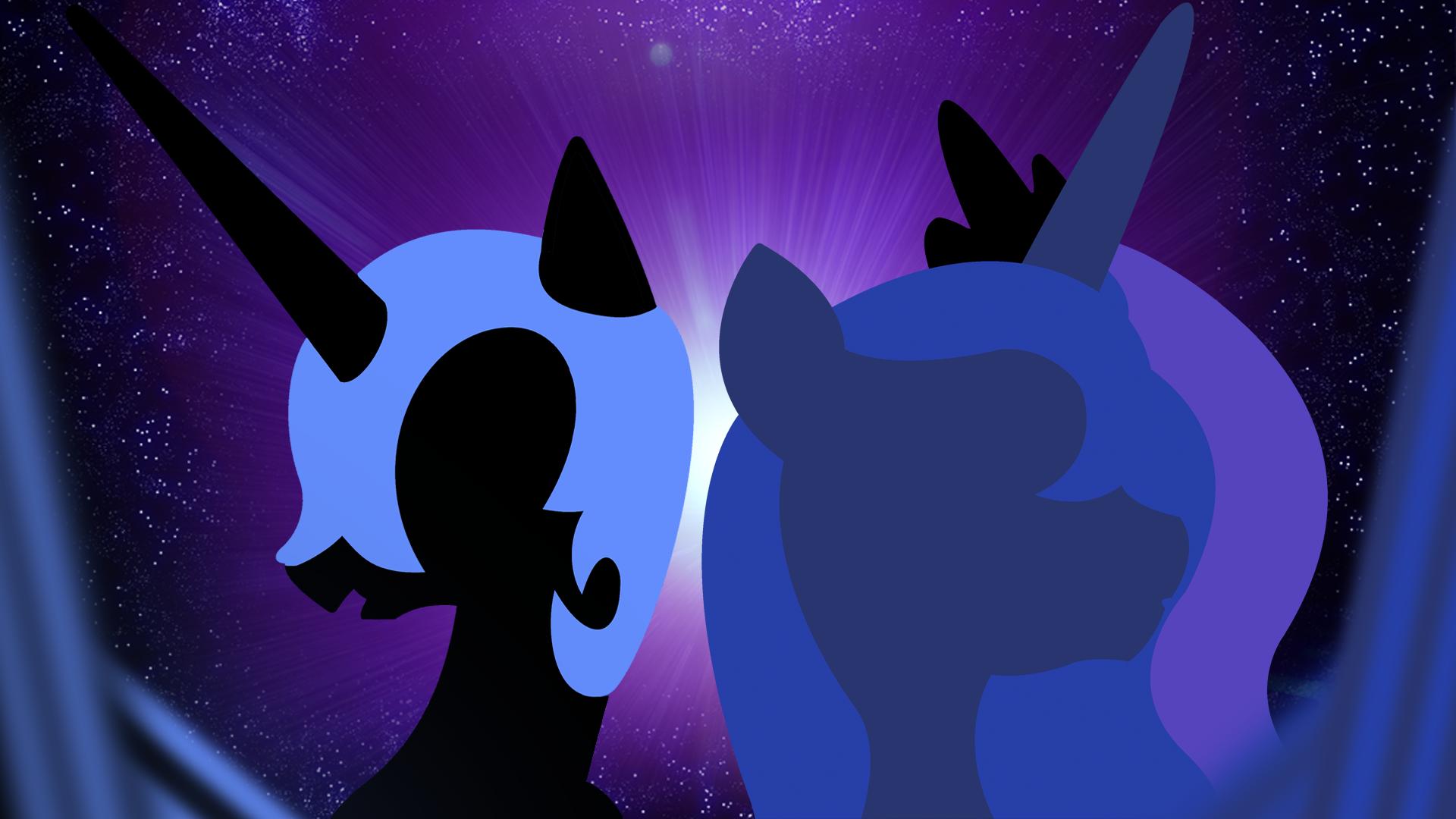 Nightmare Moon and Princess Luna Wallpaper