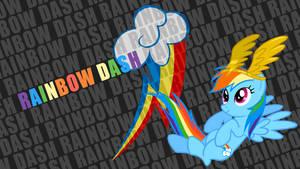 Rainbow Dash 'Text Name' Wallpaper
